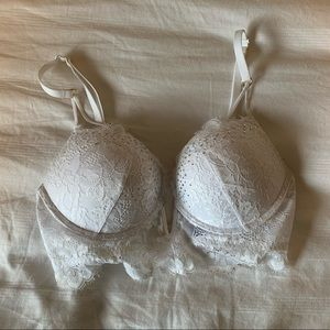 La Senza Lace & Rhinestone Double Push Up Bra
